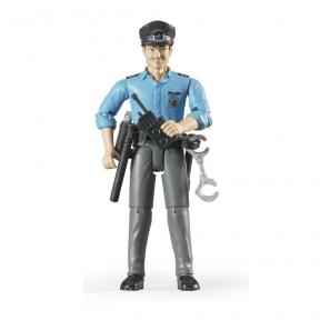 Bruder Toys 60050 - Policeman, Light Skin, Accessories