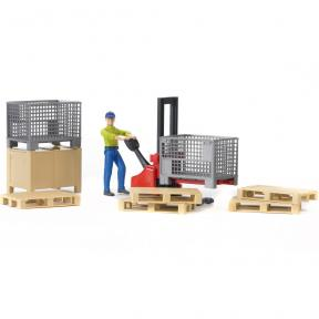 Bruder Toys - 62200 Bworld Logistics Set