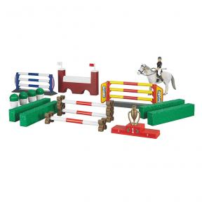 62530 - Bruder Toys Large show-jumping course with female rider and horse