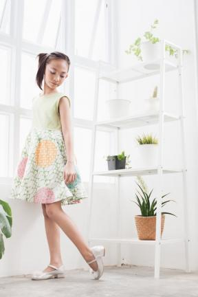 EKids.201801 Green Marvela Kids Dress