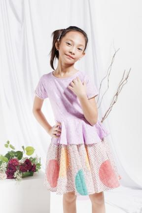 EKids.201802 Purple Arsela Kids Dress