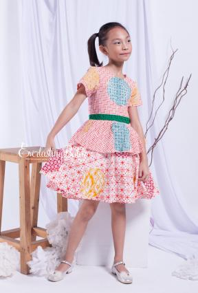 EKids.201803 Fresh Orange Lyesle Kids Dress