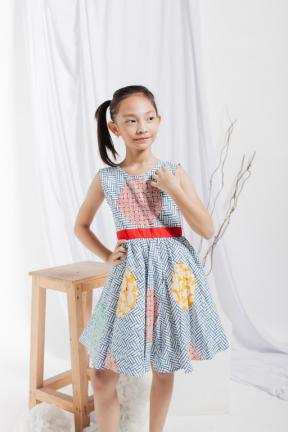 EKids.201804 Blue Diana Kids Dress