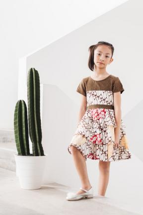EKids.201805 Brown Melanie Dobby Dress