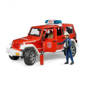 Bruder Toys 2528 - Jeep Wrangler  Unlimited Rubicon Fire Department Vehicle with Fireman