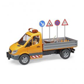 Bruder Toys 2537 - MB Sprinter Municipal with Worker and Accessories