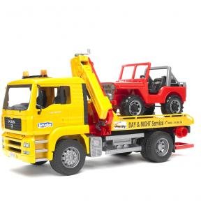 Bruder Toys 2750 - MAN TGA Breakdown-truck with Cross Country Vehicle