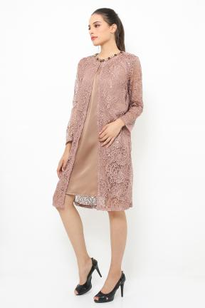 Champagne Outter lace with inner