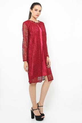 Maroon Outter lace with inner