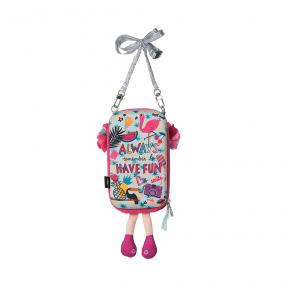 New Tiny Treasures Flamingo Girl Sling Bag