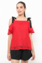 Lace Pebble Top in red