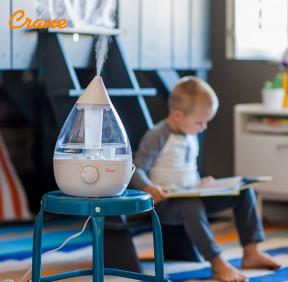 Crane USA Dropshape Clear White Cool Mist Humidifier