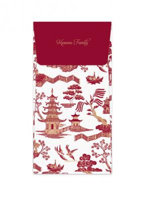 Oriental Garden White (Money Envelope Set of 12)