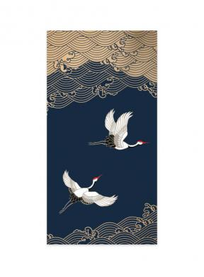 Moon Cranes (Money Envelope Set of 12)