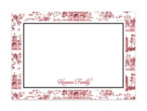 'Oriental Garden White' (Note Cards Set of 6)