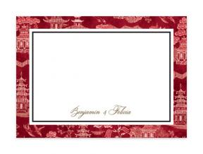 'Oriental Garden Red' (Note Cards Set of 6)