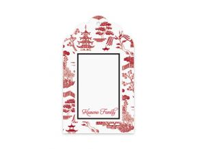 'Oriental Garden White' (Gift Tag Set of 12)