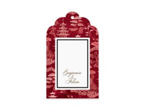 'Oriental Garden Red' (Gift Tag Set of 12)