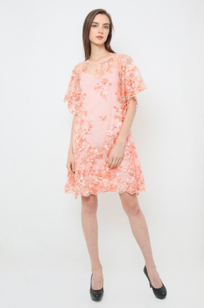 Adriana Dress in peach