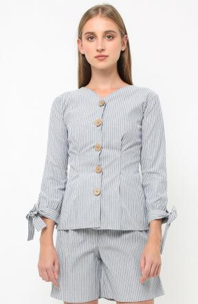 Maggie Top in grey stripes