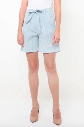Maggie Shorts in light blue stripes