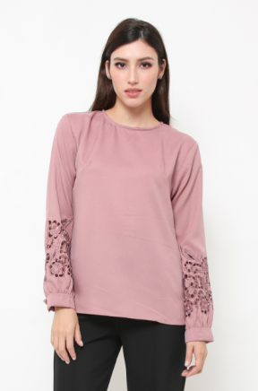 London Blouse in dusty pink