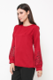 London Blouse in red