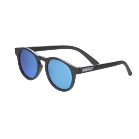 Babiators The Agent Black with Blue Mirror Keyhole Junior Ages 0-2 Sunglasses