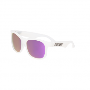Babiators The Trendsetter Transparent with Purple Mirror Navigator Junior Ages 0-2 Sunglasses