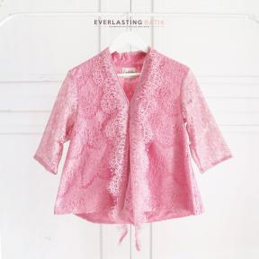 SOFT PINK KARTIKA LACE TOP - MEDIUM SLEEVE