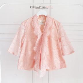 PEACH KARTIKA LACE TOP - MEDIUM SLEEVE