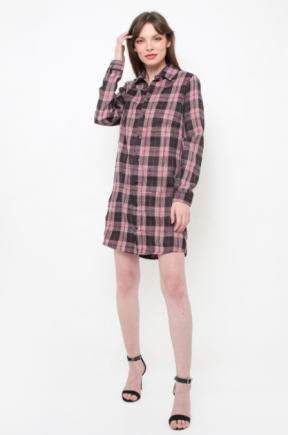 Hope dress in plaids pink