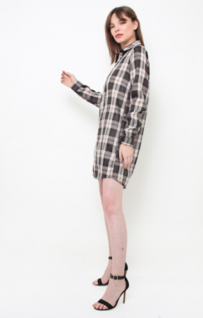 Hope dress in plaids cream