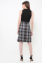 Victoria skirt in plaids grey