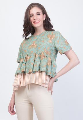 MB.1011 NADINE PEPLUM MARCH BATIK