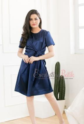 CA.1093 BLUE SHERYL SATIN DRESS