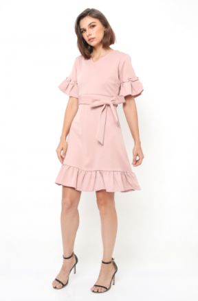 Joy Dress in nude pink