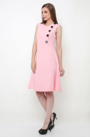 Duncan Dress in pink