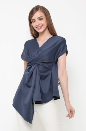 Lindy Top in darker blue color