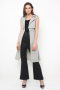 Harper trench vest in grey