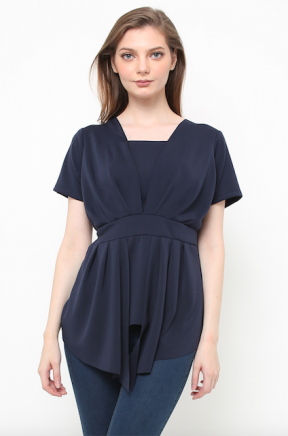 Florence Top in navy