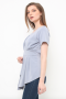 Florence Top in grey blue
