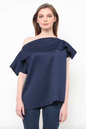 Serena Top in navy