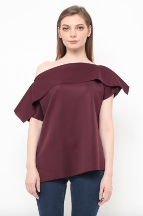 Serena Top in burgundy