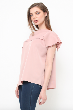 Serena Top in nude pink