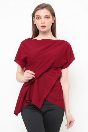 Blaire Top in maroon