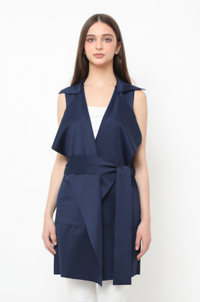 Yoona vest dress in navy