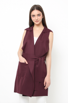 Yoona vest dress in Burgundy