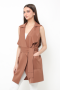 Yoona vest dress in choco