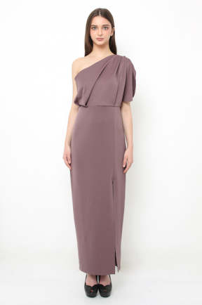 Eden long gown in dark lilac